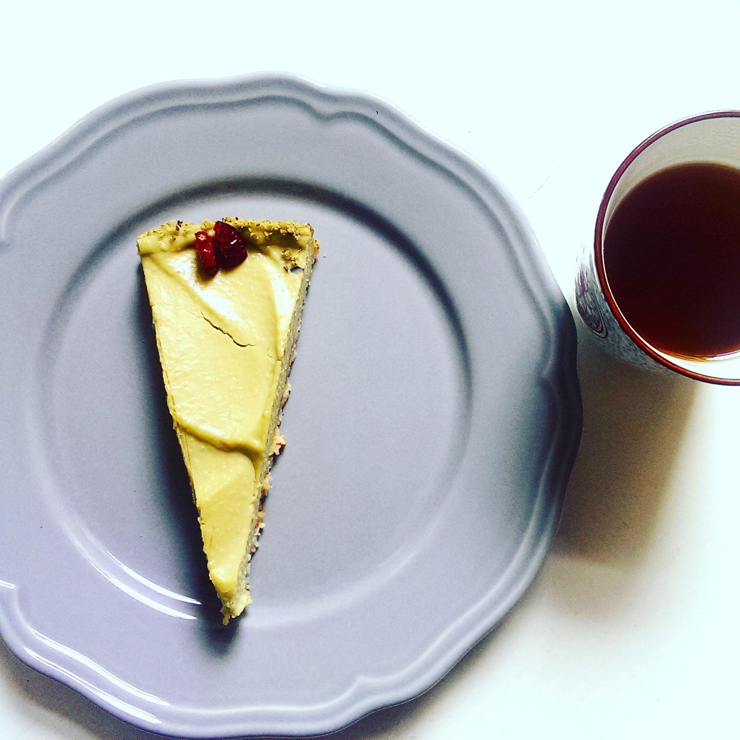 Matcha-Cheesecake mit Pistazien