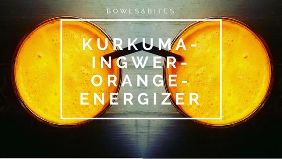 Glow-Smoothie aus Kurkuma, Ingwer und Orange.