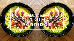 Golden-Kurkuma-Porridge mit Feigen, Kakaonibs & Sesam #vegan #glutenfrei #laktosefrei by bowlsnbites.com