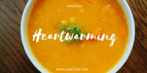 Ingwer-Möhren-Suppe mit Kichererbsen # laktosefrei #vegan #glutenfrei by bowlsnbites.com