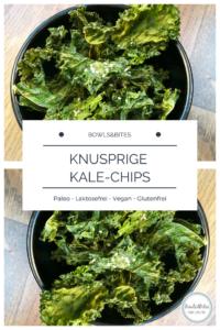 Knusprige-Kale-Chips mit Erdnussbutter #paleo #glutenfrei #laktosefrei by bowlsnbites.com
