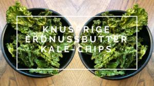 Knusprige-Kale-Chips mit Erdnussbutter #laktosefrei #glutenfrei #paleo #vegan by bowlsnbites.com