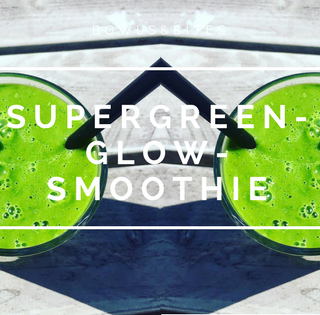 Supergreen-Glow-Smoothie mit Ingwer