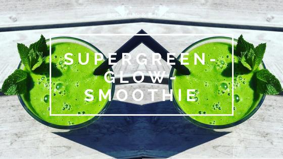 Supergreen-Glow-Smoothie mit Ingwer