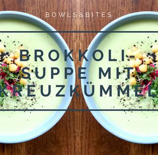 Brokkoli-Suppe mit Kreuzkümmel, Spinat und Grünkohl. Healing Soup #glutenfrei #laktosefrei #paleo #AIP #vegan by bowlsnbites.com