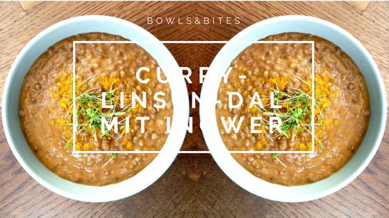 Curry-Linsen-Dal mit Ingwer #glutenfrei #laktosefrei #vegan by bowlsnbites.com