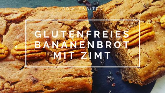 Glutenfreies Bananenbrot mit Zimt, Kakaonibs und Pekannüssen #glutenfrei #laktosefrei #paleo #vegan by bowlsnbites.com