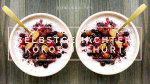 Selbstgemachter Kokosjoghurt mit Beeren, Mandeln & Zimt. #glutenfrei #laktosefrei #vegan #paleo by bowlsnbites.com