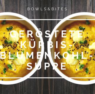 Geröstete Kürbis-Blumenkohl-Suppe mit Petersilie