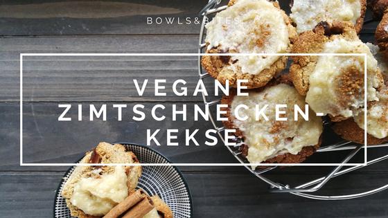 Vegane Zimtschnecken-Kekse #glutenfrei #laktosefrei #sojafrei #vegan by bowlsnbites.com