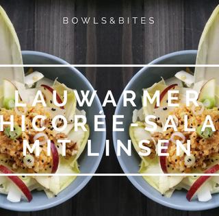 Lauwarmer Chicorée-Salat mit Linsen