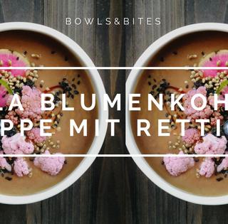 LILA BLUMENKOHL-SUPPE MIT RETTICH