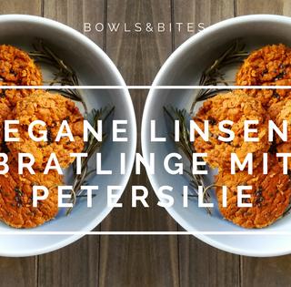 Vegane Linsen-Bratlinge mit Petersilie, Kreuzkümmel & Kurkuma #glutenfrei #eifrei #laktosefrei by bowlsnbites.com