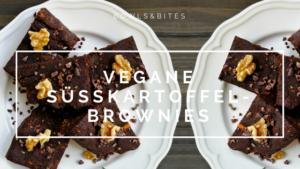 Vegane Süßkartoffel-Brownies mit Kakao-Nibs, Mandeln und Raw-Kakao. Glutenfrei. Laktosefrei. Eifrei by bowlsnbites.com
