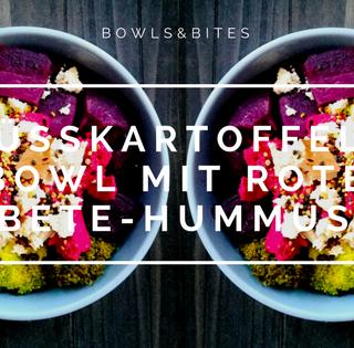 SÜßKARTOFFEL-BOWL MIT ROTE BETE-HUMMUS