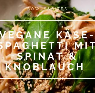 "Vegane ""Käse""-Pasta mit Knoblauch bowlsnbites-com Ernährungsberatung"